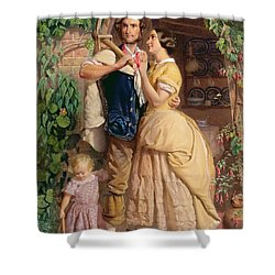 The Sinews Of Old England Shower Curtain by George Elgar Hicks