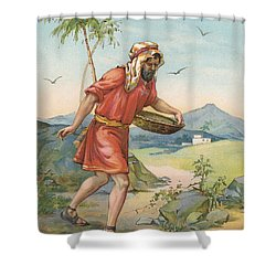 The Sower Shower Curtain by Ambrose Dudley