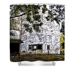 The Stone Barn Shower Curtain by Bill Cannon