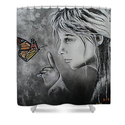 The Story Of Me Shower Curtain by Carla Carson
