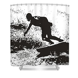 The Surfer Shower Curtain by Brian Roscorla