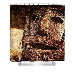 The Tin Man Shower Curtain by Kathy Clark