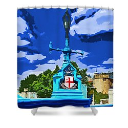 The Tower Lamp Post Shower Curtain by Steve Taylor