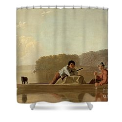 The Trapper's Return Shower Curtain by George Caleb Bingham
