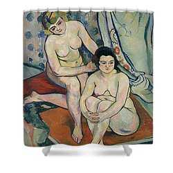 The Two Bathers Shower Curtain by Marie Clementine Valadon