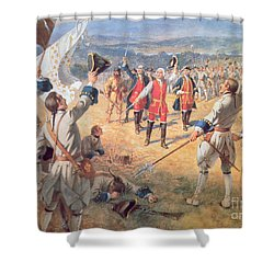 The Victory Of Montcalms Troops At Carillon Shower Curtain by Henry Alexander Ogden
