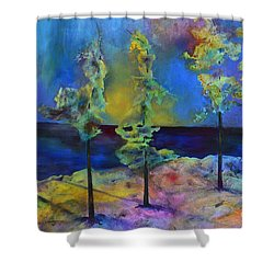The View Shower Curtain by Claire Bull