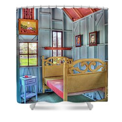 The Vincent Van Gogh Small House Shower Curtain by Tamyra Ayles