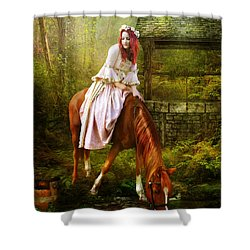 The Waterhole Shower Curtain by Mary Hood