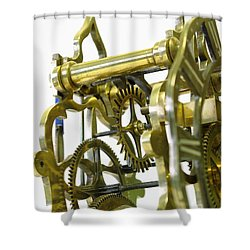 The Wheels Of Time Shower Curtain by John Chatterley