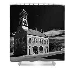 Thorold's Old Fire Hall Shower Curtain by Guy Whiteley