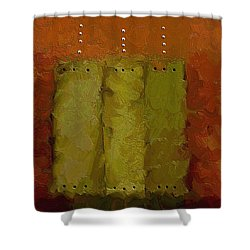 Three Shower Curtain by Ely Arsha