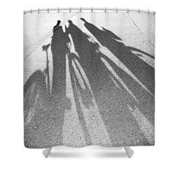 Three Friends On Bikes Shower Curtain by Julie Niemela