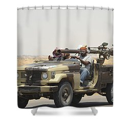 Three Rebel Fighters In A 4x4 Shower Curtain by Andrew Chittock
