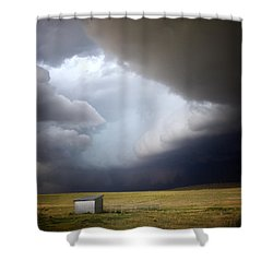 Thunderstorm Over The Plains Shower Curtain by Ellen Heaverlo
