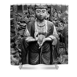 Tibetan Buddha Shower Curtain by Karon Melillo DeVega