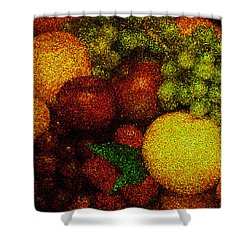 Tiled Fruit  Shower Curtain by Mauro Celotti