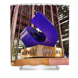 Time And Life Curved Cube Shower Curtain by Paul Ward