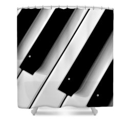 Tinkling The Ivories Shower Curtain by Bill Cannon