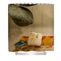 Toasting Shower Curtain by Heather Applegate