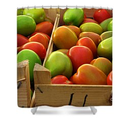 Tomatoes Shower Curtain by Carlos Caetano