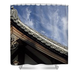 Toshodai-ji Temple Roof Gargoyle - Nara Japan Shower Curtain by Daniel Hagerman