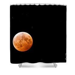 Total Lunar Eclipse Shower Curtain by Matt Suess