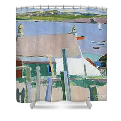 Towards Mull Shower Curtain by Francis Campbell Boileau Cadell