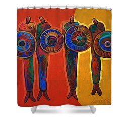 Trading Places Shower Curtain by Lance Headlee