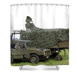 Transmission Troops Of The Belgian Army Shower Curtain by Luc De Jaeger