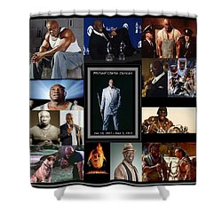 Tribute To Michael C. Duncan Shower Curtain by Davandra Cribbie