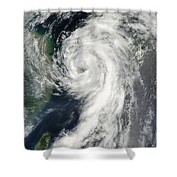 Tropical Storm Dianmu Shower Curtain by Stocktrek Images