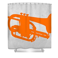 Tuba  Shower Curtain by Naxart Studio