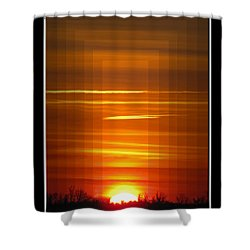 Tunnle Vision Shower Curtain by Debbie Portwood
