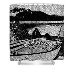 Turr Hunt Sketch Shower Curtain by Barbara Griffin