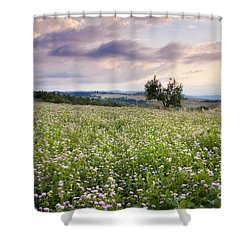 Tuscany Flowers Shower Curtain by Brian Jannsen