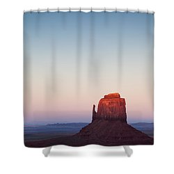 Twilight In The Valley Shower Curtain by Dave Bowman