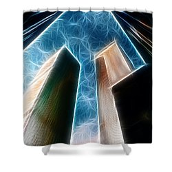 Twin Towers Shower Curtain by Paul Ward