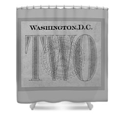 Two In Grey Shower Curtain by Rob Hans