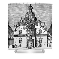 Tycho Brahes Observatory Shower Curtain by Granger