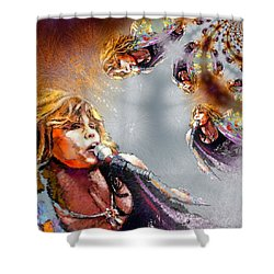 Tyler Mania Shower Curtain by Miki De Goodaboom