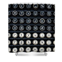 Typewriter Keyboard Shower Curtain by Hakon Soreide