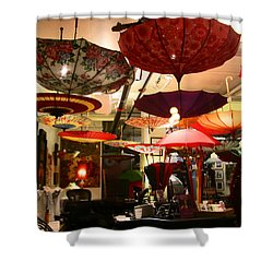 Umbrella Art Shower Curtain by Kym Backland