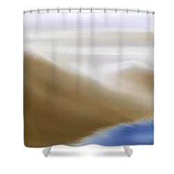 Under A Winter Sky Shower Curtain by Gina Lee Manley