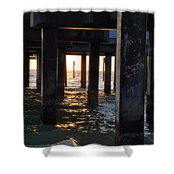 Under The Pier Shower Curtain by Bill Cannon
