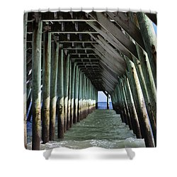 Under The Pier Shower Curtain by Teresa Mucha