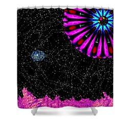 Unexpected Visitor Shower Curtain by Alec Drake