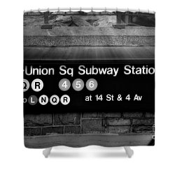 Union Square Subway Station Bw Shower Curtain by Susan Candelario