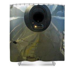 Unusual Approach 1 Shower Curtain by Ausra Huntington nee Paulauskaite
