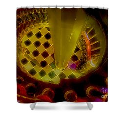 Up The Down Staircase Shower Curtain by Judi Bagwell